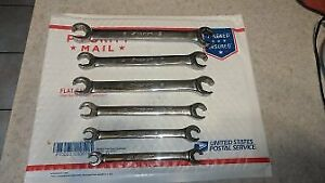 Used Snap On 6 Piece Flare Line Wrench Set Metric 21mm 9mm