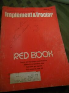 1980 Farm Tractor And Implement Red Book International John Deere Ford Oliver