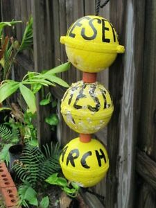 Beachcombed Research Crab Lobster Buoys Fishing Floats Tropical Tiki Island Bouy