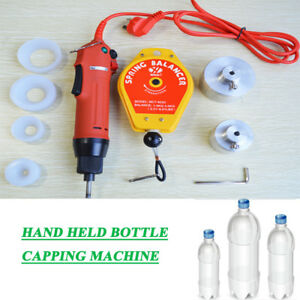 Electric Hand Held Bottle Capping Machine 4 Silicon Rubber Pad spring Balancer