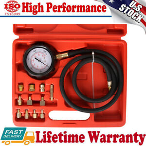 12pc Engine Oil Transmission Pressure Tester Gauge Diagnostic Test Kit 500 Psi