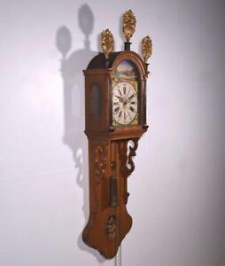 Antique Dutch Friesian Tail Clock Friese Staartklok Wall Clock