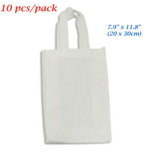 10pcs pack New 7 9 X 11 8 Blank Sublimation Non woven Shopping Bags Tote Bags