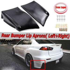 For 2008 2015 Mitsubishi Lancer Evolution X Evo 10 Rear Bumper Lip Aprons 2pc