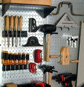 Wall Mount Metal Tool Pegboard Panel Board Steel Garage Storage Hanger Shed Hook