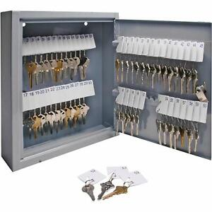 60 Key Storage Safe Cabinet Lock Steel Box Wall Mount Organizer Rack Security