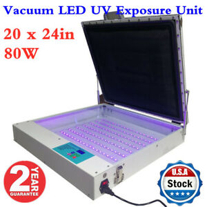 Usa 20 X 24 Tabletop Precise 80w Vacuum Led Uv Exposure Unit Ce Approved