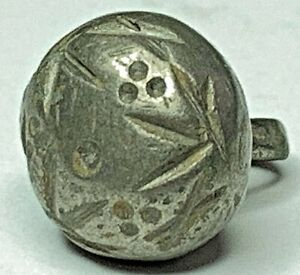 Excavated Middle Ages Medieval Solid Silver Clothing Button Cleaned