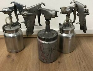 Devilbiss Jga 502 Mgm 522 And Star S770 Spray Guns And Pots Air Tool Spray Gun