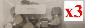lot Of 3 New Swagelok Fitting Ss 810 9 Union Elbow 1 2 In Tube Od Stainless