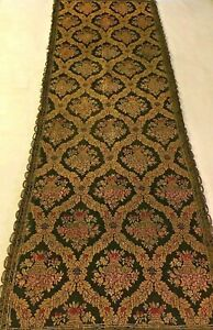 Beautiful Antique French Lyon Silk Lined Table Runner 52 X 17