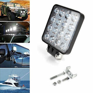 48w Cree Led Light Work Square Lamp Driving Fog Offroad Suv Atv Car Boat Truck