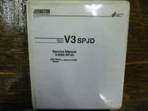 Johnston V3000sp 3000 Street Sweeper Truck Shop Service Repair Manual