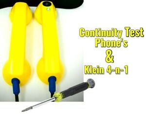 Klein Tools Screwdriver Electrician Continuity Test Phones Loop Check Phone s