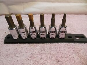 Husky Hex 3 8 Drive Metric 6 Piece Socket Set