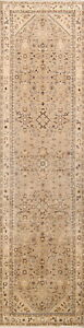 One Of A Kind Palace Size Floral 3x13 Wool Persian Hamedan Oriental Runner Rug