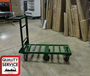 Commercial Utility Cart On 6 Rubber Wheels