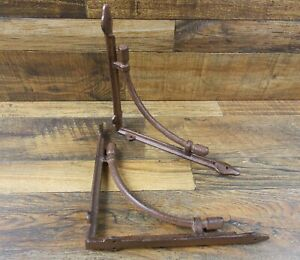 Set Of 2 Vintage Look 10 X 10 Cast Iron Tubular Arch Design Shelf Brackets