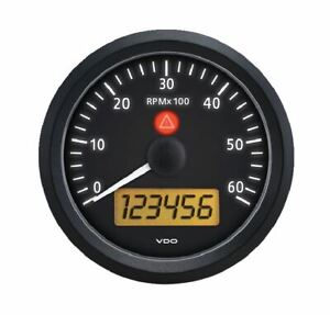 Tachometer Vdo Genuine Gauige 3 3 8 86mm Vision Black 333 155 7000 Rpm