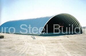 Durospan Steel 45x74x18 Metal Quonset Building Kit Farm Storage Open Ends Direct