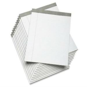 Skilcraft White Wide Ruled Perforated Writing Pad 8 1 2 X 11 Dozen Of 12