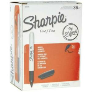 Sharpie Permanent Fine point Markers Black Pack Of 36