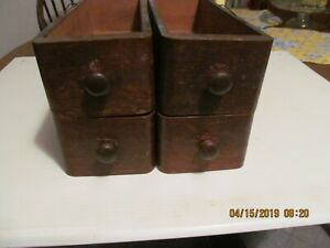 Vintage Singer Treadle Sewing Machine Drawers With Round Pulls 4 Drawers