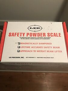 Lee Safety Powder Scale New In Box