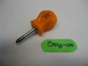 Snap On Tools No2 Phillips Stubby Orange Handle Screwdriver Sddp22