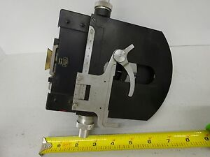Microscope Part Zeiss Germany Photomic Stage Table Optics As Is Bin c8 e 07