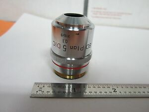 Nikon Dic Objective Microscope 5x Bd Plan Optics Nomarski Bin 1e p 18