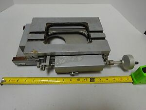 For Parts Nikon Microscope Stage Table Toolmaker Rusty Guides As Is Bin tc 1 c