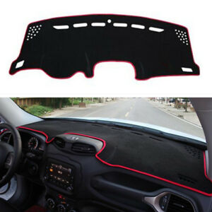 For Jeep Renegade 2015 2018 Dash Cover Mat Dashboard Pad Red