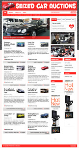Seized Cars Auctions Wordpress Blog Website With Free Installation And Setup