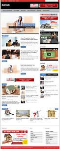 Real Estate Wordpress Niche Blog Website With Free Installation And Setup