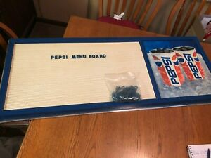 Pepsi Cola Menu Sign With Over 150 Letters And Numbers