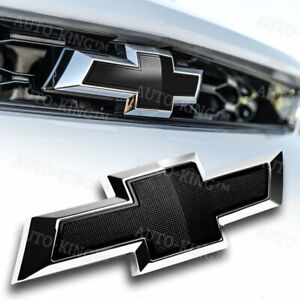 New Black Front Grille Emblem Badge Bowtie For 2014 2018 Chevy Chevrolet Camaro