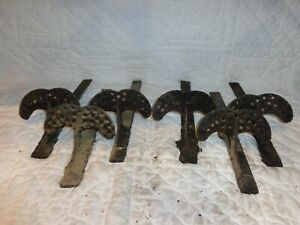 Lot Of 6 Vintage Cast Iron Snow Birds Roof Guards Architectural Salvage A