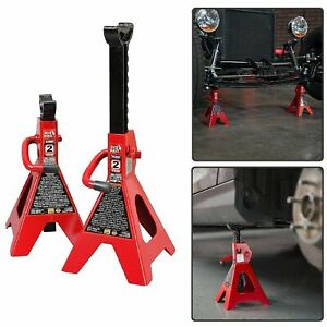 Auto Jack Stands 2 Ton Vehicle Support 17 High Lift Garage Car Truck Set 2 Pack