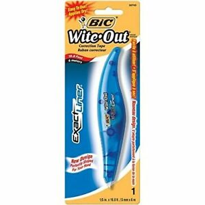 Bic Woelp11 white White Exact Liner White Out Correction Tape