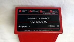Mt2500 1190 Reprogrammable Snap On Diagnostics Primary Cartridge Gm 1980 5 90