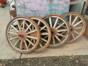 Original 1913 Model T Wood Spoke Set Of 4 Vintage Antique Wheels Model A Ford