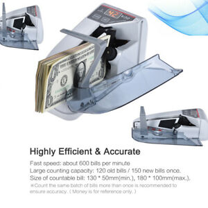 Handy Mini Money Bill Counter Professional Currency Cash Counting Machine Z0f1