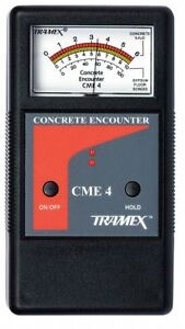 Tramex Cme4 Concrete Encounter 4 Moisture Meter New
