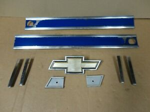 85 87 Chevy Pickup Truck Square Body Silverado Front Grille Grill Trim Moldings