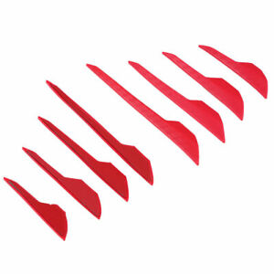 8 Pcs Car Door Edge Guards Trim Molding Protect Strip Scratch Protector Red Set