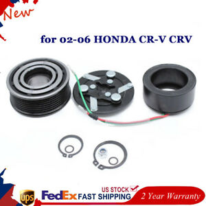 Ac Compressor Clutch Pulley Bearing Coil Plate 1 Set Fit For Honda Cr V 02 06