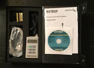 Extech 407355 Noise Dosimeter Datalogger With Rs 232 Pc Interface New