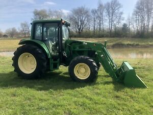 John Deere 6320 Cab 4wd Tractor W Loader