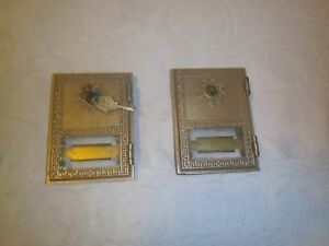 Vintage Brass Post Office Box Doors One Has Keys Made In Los Angeles Ca Usa